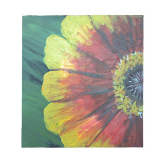 Bright large flower design notepads