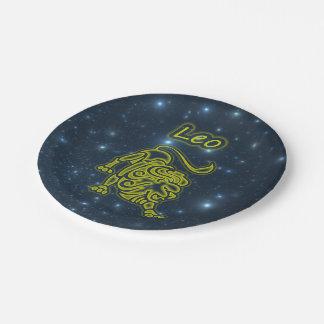 Bright Leo Paper Plate
