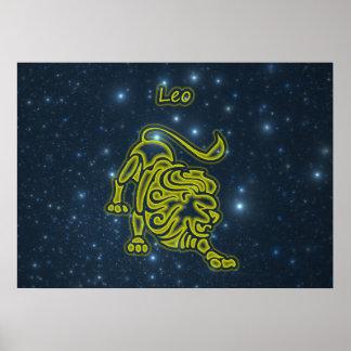 Bright Leo Poster
