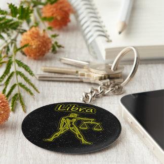Bright Libra Basic Round Button Key Ring