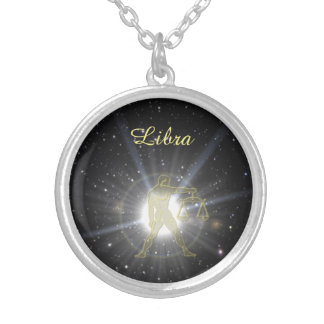 Bright Libra Silver Plated Necklace