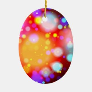 Bright Lights Ceramic Ornament