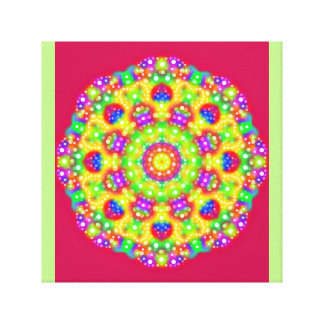 Bright Lights Yellow Mandala Canvas Print