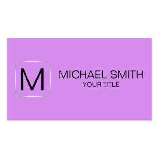 Bright lilac color background pack of standard business cards