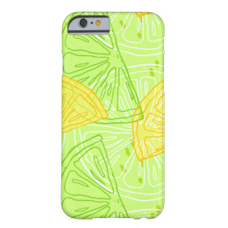 Bright lime green citrus lemons pattern barely there iPhone 6 case