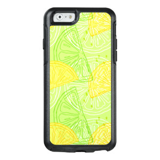 Bright lime green citrus lemons pattern OtterBox iPhone 6/6s case