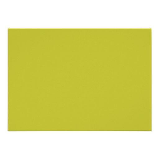 Bright Lime Green Color Trend Blank Template Personalized Announcements
