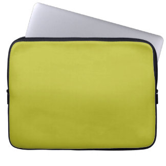 Bright Lime Green Color Trend Blank Template Laptop Sleeves