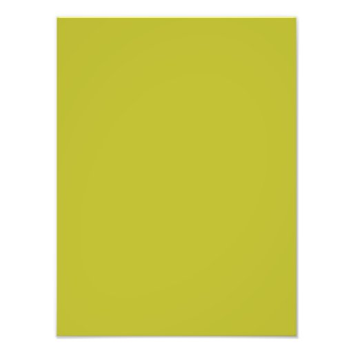 Bright Lime Green Color Trend Blank Template Photo Art