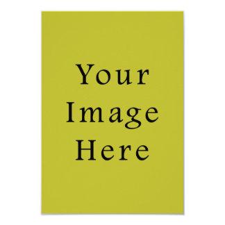 Bright Lime Green Colour Trend Blank Template 9 Cm X 13 Cm Invitation Card