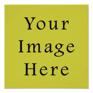 Bright Lime Green Colour Trend Blank Template 13 Cm X 13 Cm Square Invitation Card