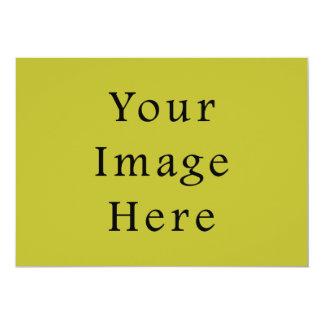 Bright Lime Green Colour Trend Blank Template 13 Cm X 18 Cm Invitation Card