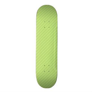 Bright Lime Green Diagonal Stripes Skateboard Deck