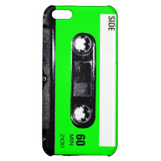 Bright Lime Green Label Cassette iPhone 5C Cover