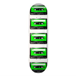 Bright Lime Green Label Cassette Skate Deck