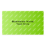 Bright Lime Green Patterned Background Design. Business Card