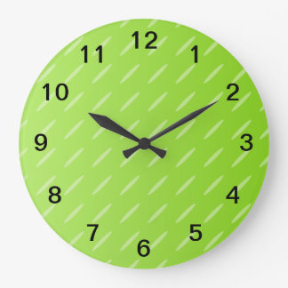 Bright Lime Green Patterned Background Design. Clock