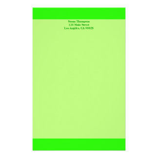 bright lime green stationery