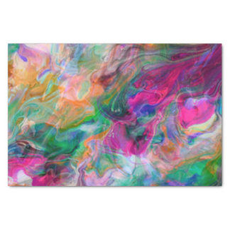 Bright Liquid Color Psychedelic Funky Tissue Paper