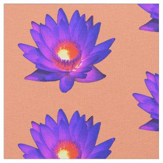 Bright Lotus Flower Fabric