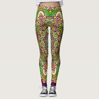Bright mandalas design | Indian motif Leggings
