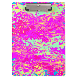 Bright Marbleized Colors Design Clipboard