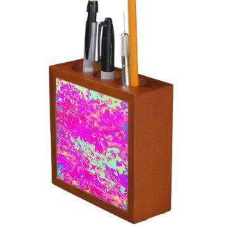 Bright Marbleized Colors Design on Desk Organizer
