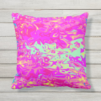 Bright Marbleized Colors Design Pillow