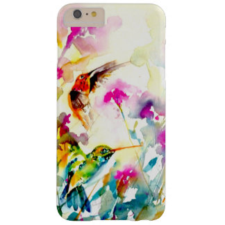 """Bright Meadow"" Hummingbird Print Barely There iPhone 6 Plus Case"