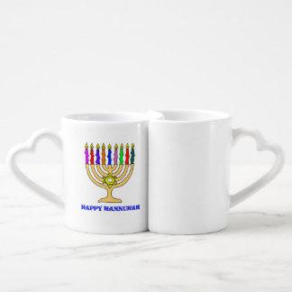 Bright Menorah Couple Mugs