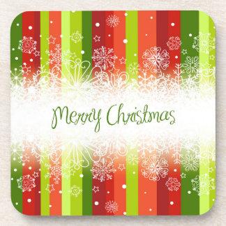 Bright Merry Christmas Holiday Design Beverage Coaster
