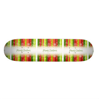 Bright Merry Christmas Holiday Design Skateboard