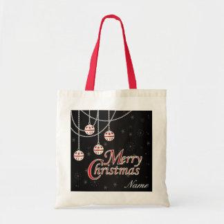 Bright Merry Christmas Budget Tote Bag
