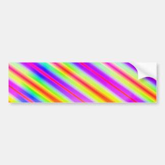 Bright Metallic Stripes Bumper Stickers