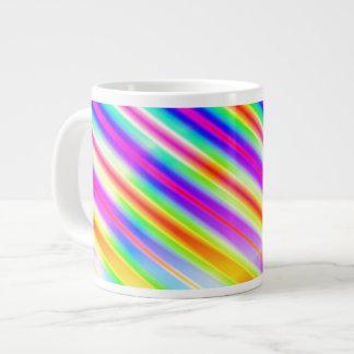 Bright Metallic Stripes Giant Coffee Mug