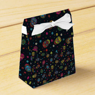 Bright mexican floral skull party favour box