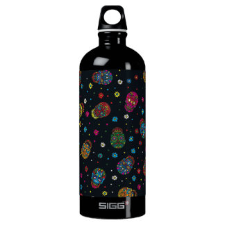 Bright mexican floral skull SIGG traveller 1.0L water bottle