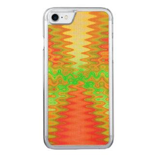 Bright mod yellow orange carved iPhone 7 case