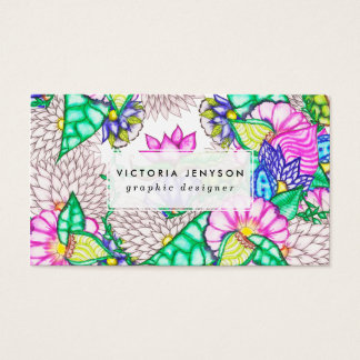 Bright modern botanical preppy floral watercolor