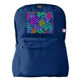 Bright Modern Leaf Pattern 437 Backpack