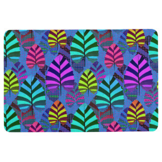 Bright Modern Leaf Pattern 437 Floor Mat