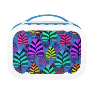 Bright Modern Leaf Pattern 437 Lunch Box