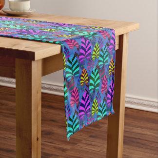 Bright Modern Leaf Pattern 437 Short Table Runner