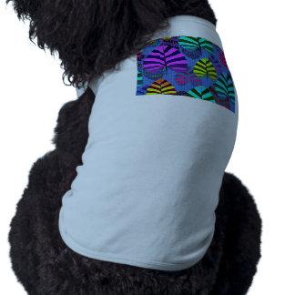Bright Modern Leaf Pattern 437 Sleeveless Dog Shirt