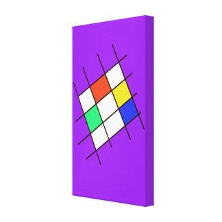 Bright Multi Color Cross Hatch Artwork Canvas Print