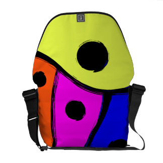 Bright Multi colored Abstract design Messenger Bags