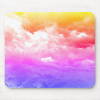 Bright Multi-Colored Cloud Mouse Pad