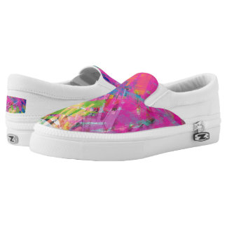 Bright Multi Colored  Sneaker Slip-On Shoes