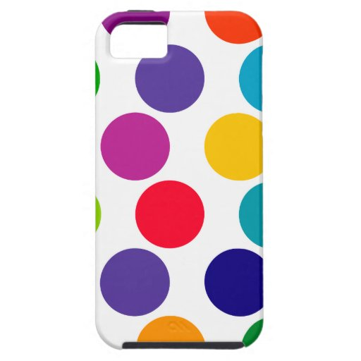 Bright Multicolored Polka Dots Pattern iPhone 5 Covers