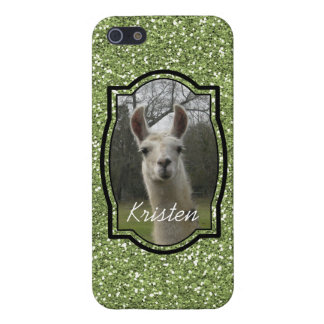 Bright N Sparkling Llama in Green Case For The iPhone 5